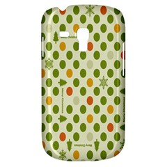 Merry Christmas Polka Dot Circle Snow Tree Green Orange Red Gray Galaxy S3 Mini by Mariart