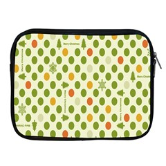 Merry Christmas Polka Dot Circle Snow Tree Green Orange Red Gray Apple Ipad 2/3/4 Zipper Cases by Mariart