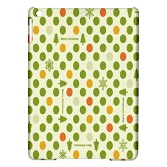 Merry Christmas Polka Dot Circle Snow Tree Green Orange Red Gray Ipad Air Hardshell Cases by Mariart