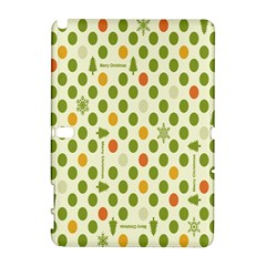 Merry Christmas Polka Dot Circle Snow Tree Green Orange Red Gray Galaxy Note 1 by Mariart