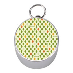Merry Christmas Polka Dot Circle Snow Tree Green Orange Red Gray Mini Silver Compasses
