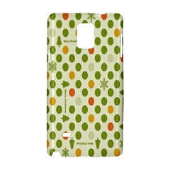 Merry Christmas Polka Dot Circle Snow Tree Green Orange Red Gray Samsung Galaxy Note 4 Hardshell Case by Mariart