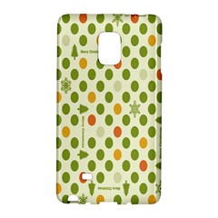 Merry Christmas Polka Dot Circle Snow Tree Green Orange Red Gray Galaxy Note Edge by Mariart