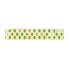 Merry Christmas Polka Dot Circle Snow Tree Green Orange Red Gray Flano Scarf (mini) by Mariart