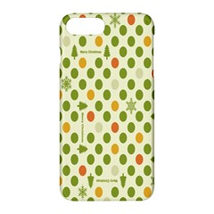 Merry Christmas Polka Dot Circle Snow Tree Green Orange Red Gray Apple Iphone 7 Plus Hardshell Case by Mariart