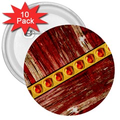 Wood And Jewels 3  Buttons (10 Pack)