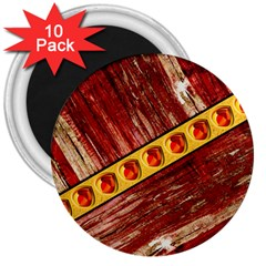 Wood And Jewels 3  Magnets (10 Pack)