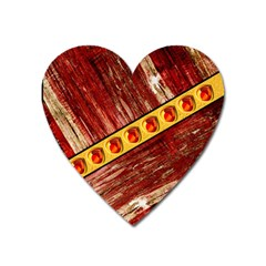 Wood And Jewels Heart Magnet by linceazul