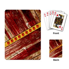 Wood And Jewels Playing Card
