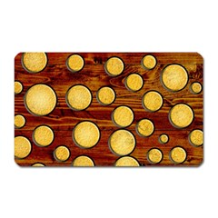 Wood And Gold Magnet (rectangular)