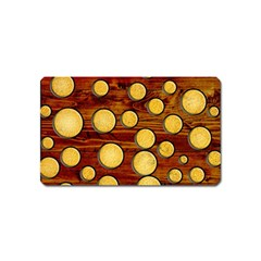 Wood And Gold Magnet (name Card)