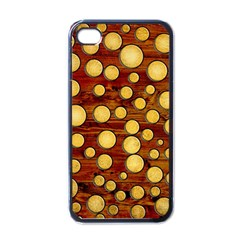 Wood And Gold Apple Iphone 4 Case (black)