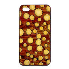 Wood And Gold Apple Iphone 4/4s Seamless Case (black)