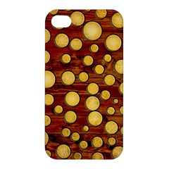 Wood And Gold Apple Iphone 4/4s Premium Hardshell Case