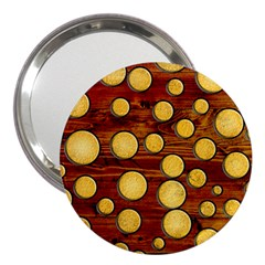 Wood And Gold 3  Handbag Mirrors by linceazul