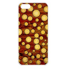 Wood And Gold Apple Iphone 5 Seamless Case (white)