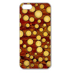 Wood And Gold Apple Seamless Iphone 5 Case (clear) by linceazul