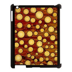 Wood And Gold Apple Ipad 3/4 Case (black)