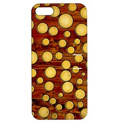 Wood And Gold Apple Iphone 5 Hardshell Case With Stand
