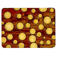 Wood And Gold Samsung Galaxy Tab 7  P1000 Flip Case
