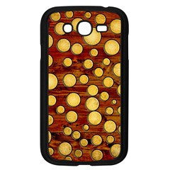 Wood And Gold Samsung Galaxy Grand Duos I9082 Case (black)