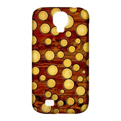 Wood And Gold Samsung Galaxy S4 Classic Hardshell Case (pc+silicone) by linceazul