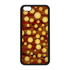 Wood And Gold Apple Iphone 5c Seamless Case (black) by linceazul