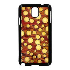Wood And Gold Samsung Galaxy Note 3 Neo Hardshell Case (black)