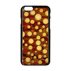 Wood And Gold Apple Iphone 6/6s Black Enamel Case by linceazul