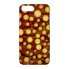 Wood And Gold Apple Iphone 7 Plus Hardshell Case