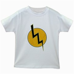 Lightning Bolt Kids White T Shirts