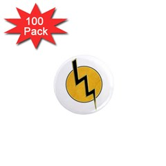 Lightning Bolt 1  Mini Magnets (100 Pack)