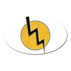 Lightning Bolt Oval Magnet by linceazul