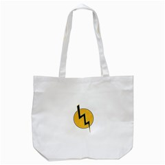 Lightning Bolt Tote Bag (white)