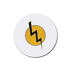 Lightning Bolt Rubber Coaster (round)