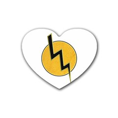 Lightning Bolt Rubber Coaster (heart)