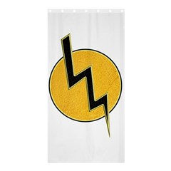 Lightning Bolt Shower Curtain 36  X 72  (stall)