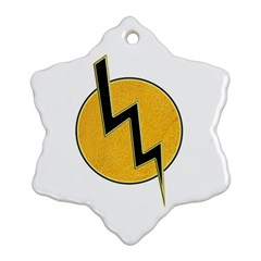 Lightning Bolt Ornament (snowflake) by linceazul