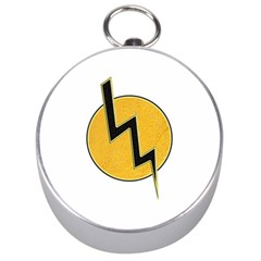 Lightning Bolt Silver Compasses by linceazul