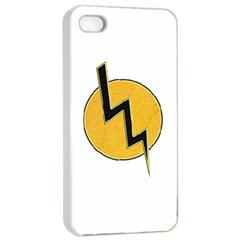 Lightning Bolt Apple Iphone 4/4s Seamless Case (white) by linceazul