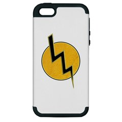 Lightning Bolt Apple Iphone 5 Hardshell Case (pc+silicone)