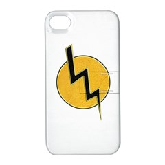 Lightning Bolt Apple Iphone 4/4s Hardshell Case With Stand