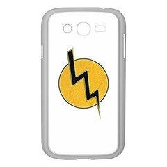 Lightning Bolt Samsung Galaxy Grand Duos I9082 Case (white) by linceazul