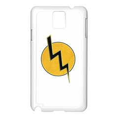 Lightning Bolt Samsung Galaxy Note 3 N9005 Case (white)