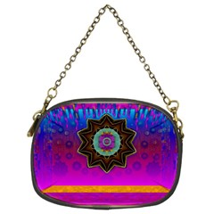 Air And Stars Global With Some Guitars Pop Art Chain Purses (two Sides)  by pepitasart