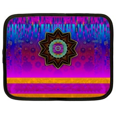 Air And Stars Global With Some Guitars Pop Art Netbook Case (xl)  by pepitasart