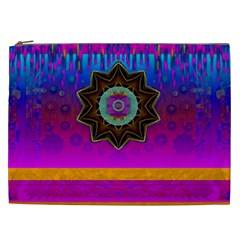 Air And Stars Global With Some Guitars Pop Art Cosmetic Bag (xxl)  by pepitasart