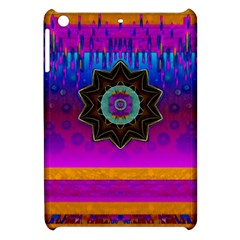 Air And Stars Global With Some Guitars Pop Art Apple Ipad Mini Hardshell Case by pepitasart
