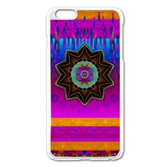 Air And Stars Global With Some Guitars Pop Art Apple Iphone 6 Plus/6s Plus Enamel White Case by pepitasart