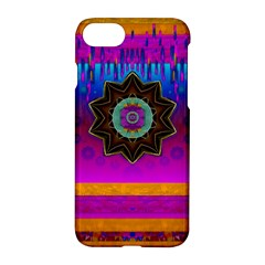 Air And Stars Global With Some Guitars Pop Art Apple Iphone 7 Hardshell Case by pepitasart